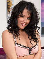 Hot and lacey Leah H displays her fine assets and spreads wide